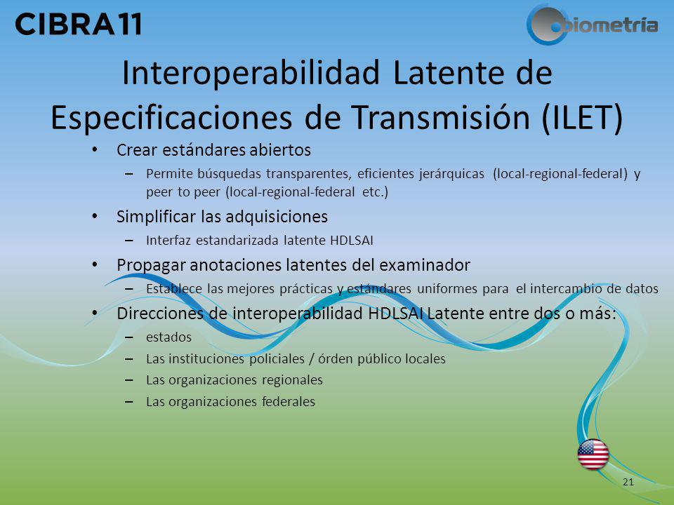 Interoperabilidad Latente de Especificaciones de Transmisión (ILET)