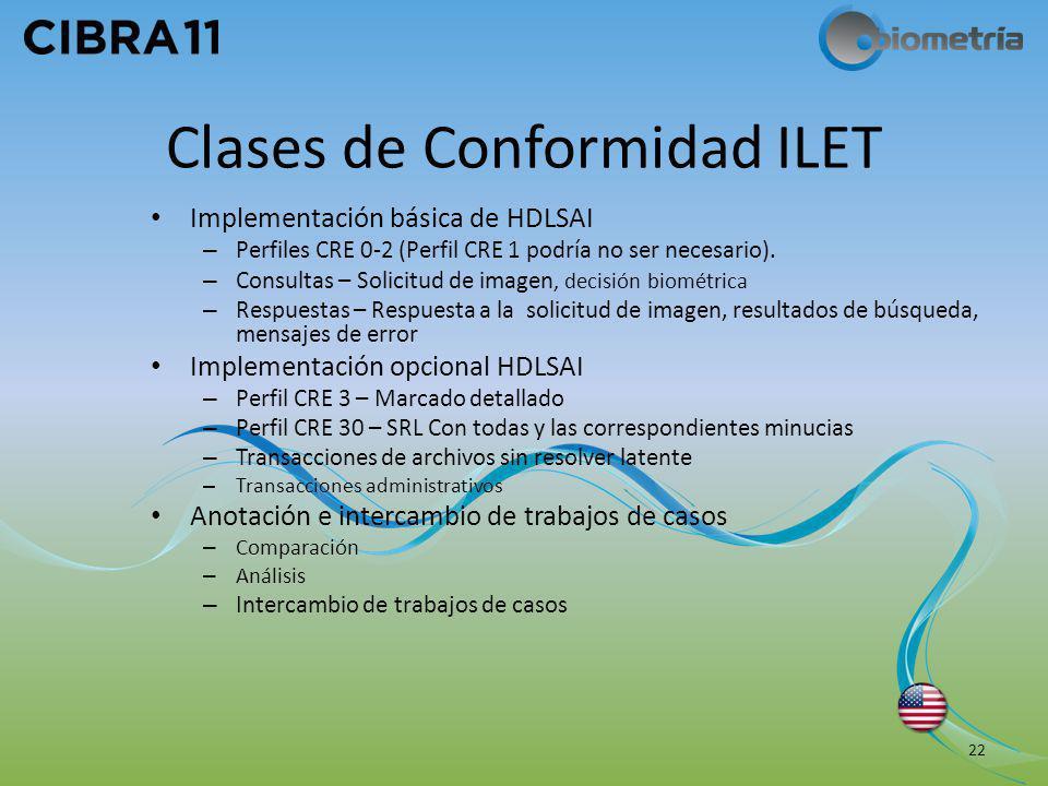 Clases de Conformidad ILET