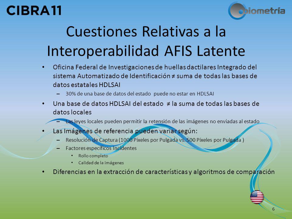 Cuestiones Relativas a la Interoperabilidad AFIS Latente