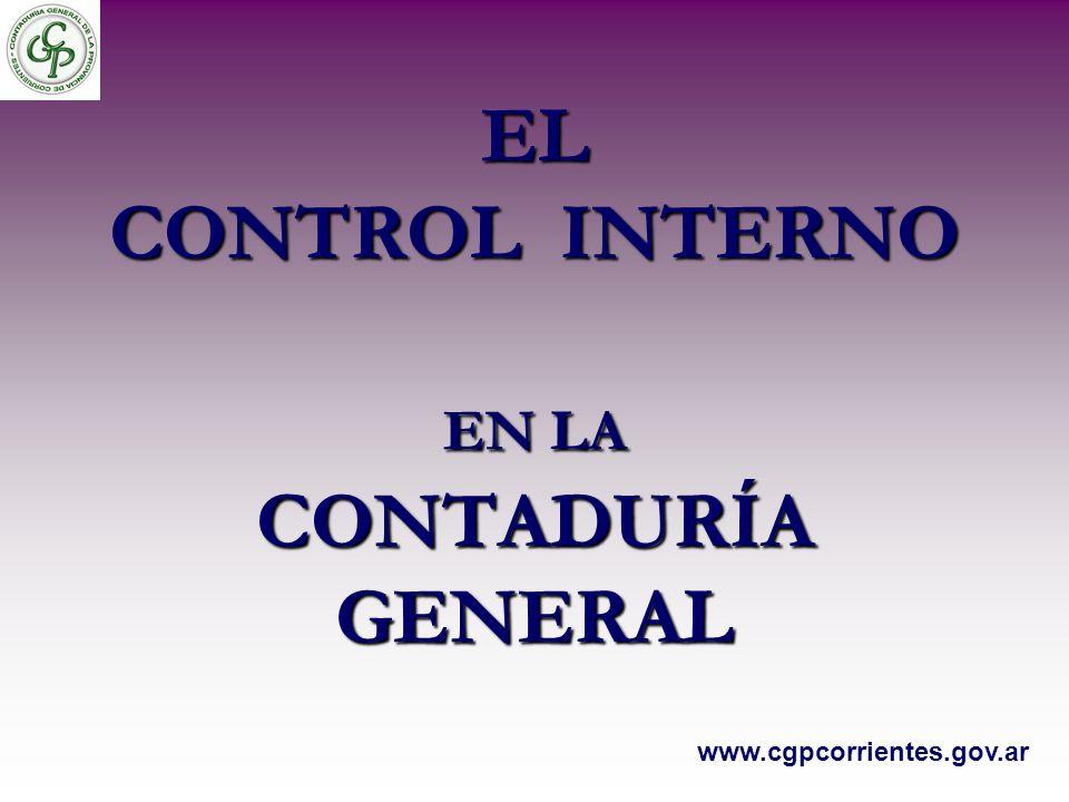 EL CONTROL INTERNO EN LA CONTADURÍA GENERAL