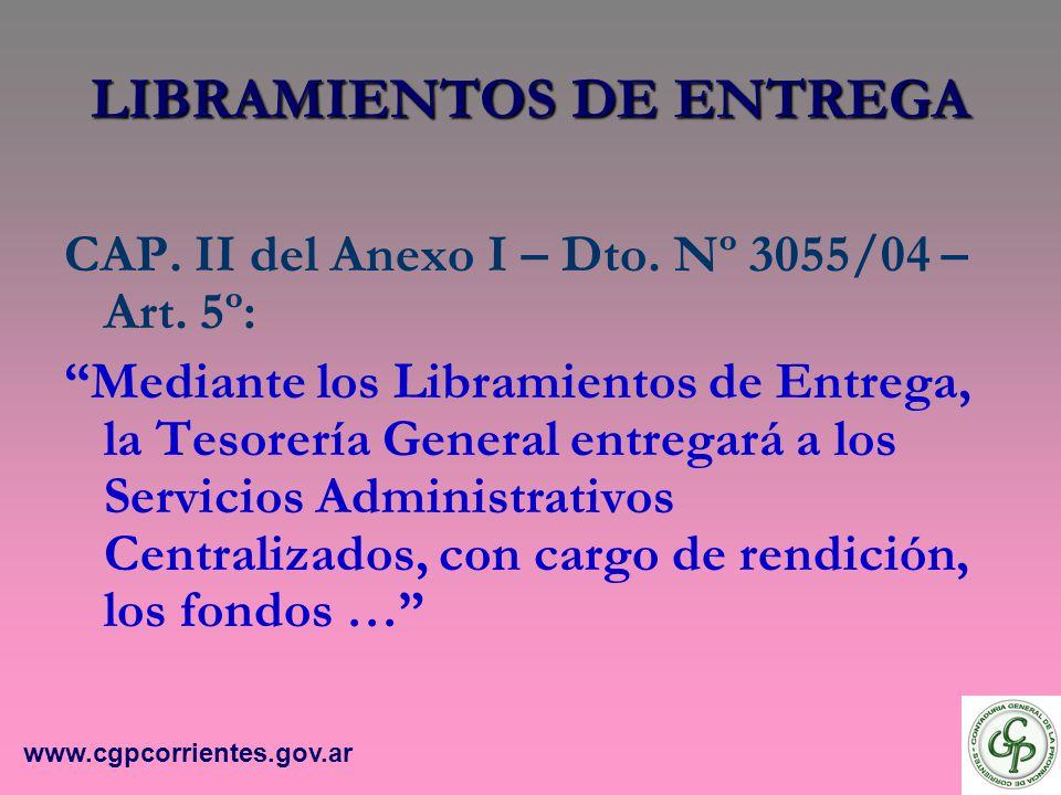 LIBRAMIENTOS DE ENTREGA