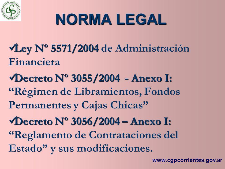 NORMA LEGAL Ley Nº 5571/2004 de Administración Financiera