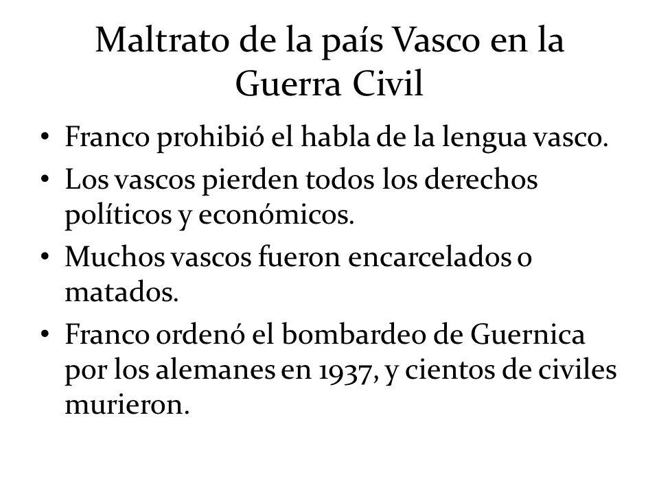 Maltrato de la país Vasco en la Guerra Civil