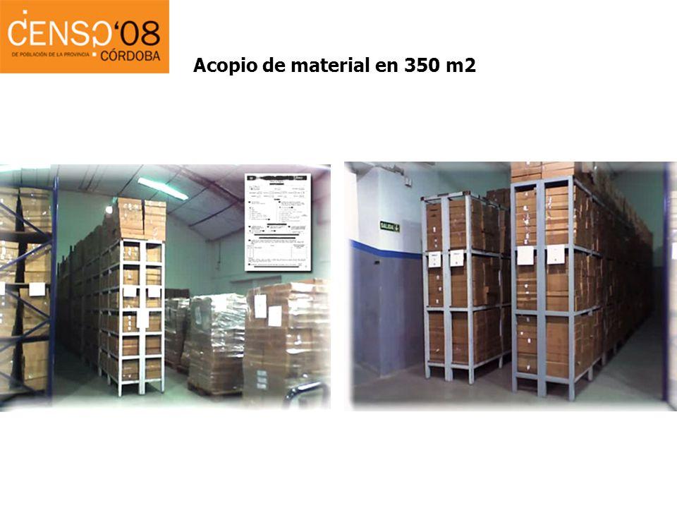 Acopio de material en 350 m2