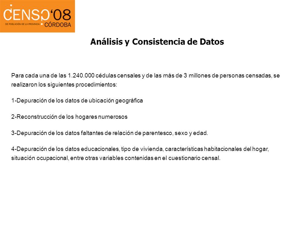 Análisis y Consistencia de Datos