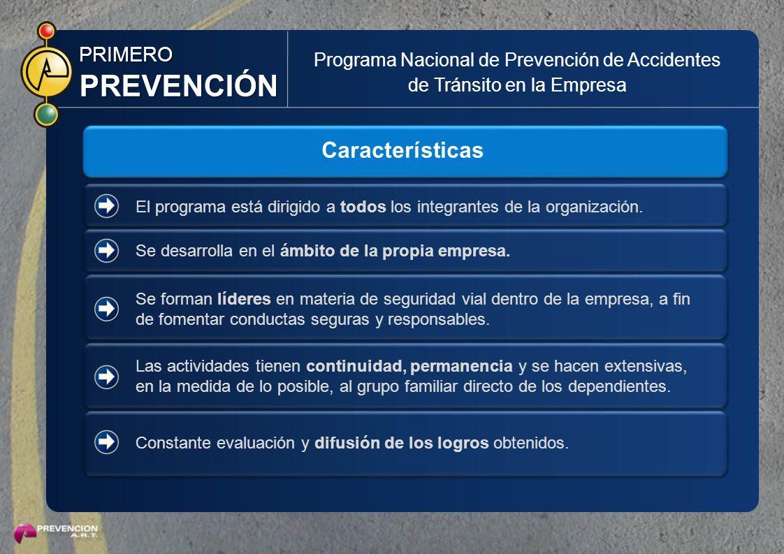 PREVENCIÓN Características PRIMERO
