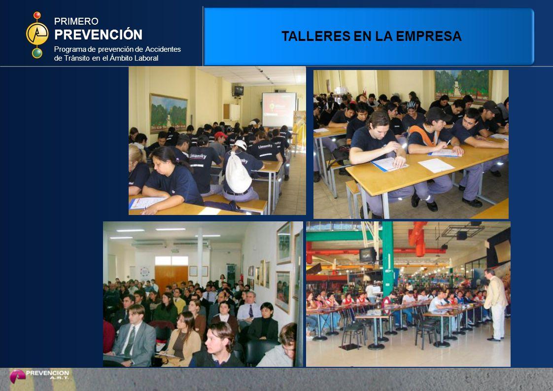 PREVENCIÓN TALLERES EN LA EMPRESA PRIMERO