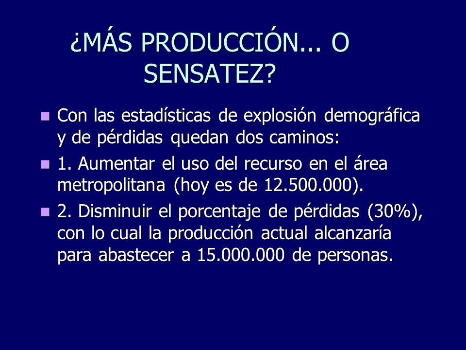 ¿MÁS PRODUCCIÓN... O SENSATEZ