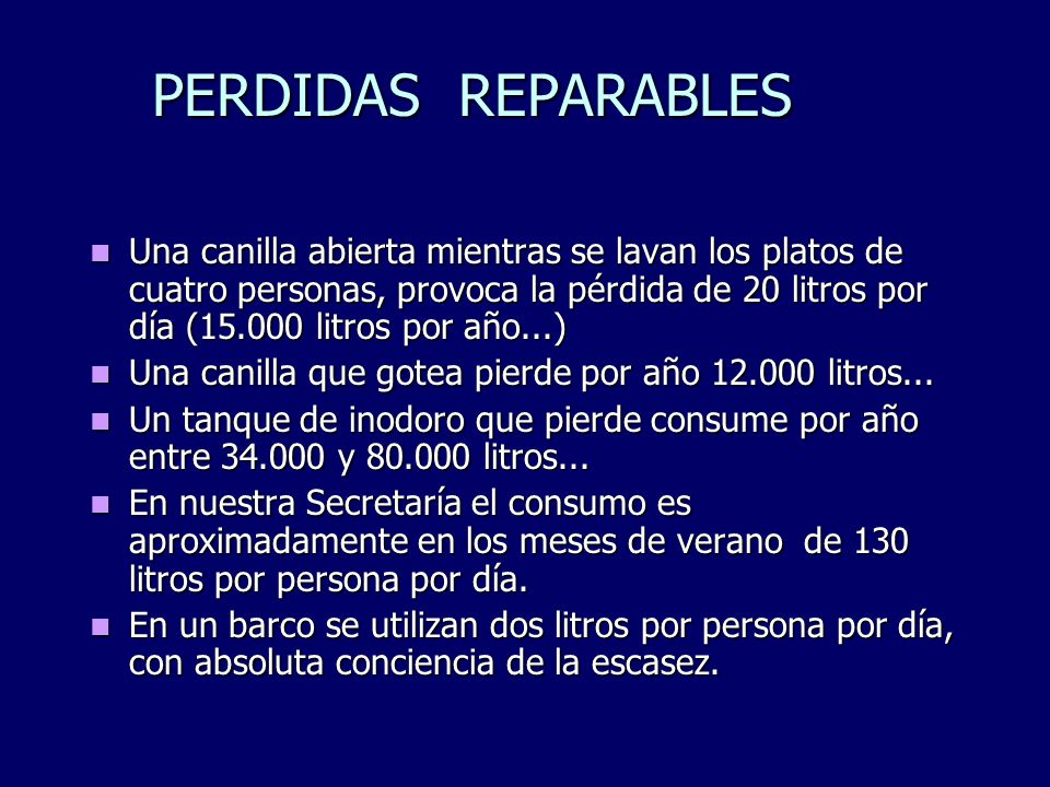 PERDIDAS REPARABLES