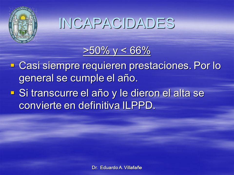 INCAPACIDADES >50% y < 66%