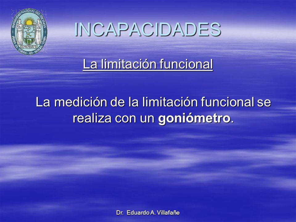 INCAPACIDADES La limitación funcional