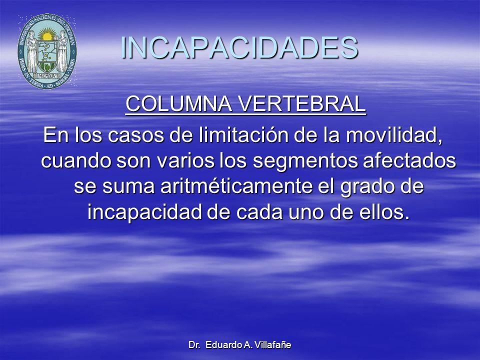 INCAPACIDADES COLUMNA VERTEBRAL