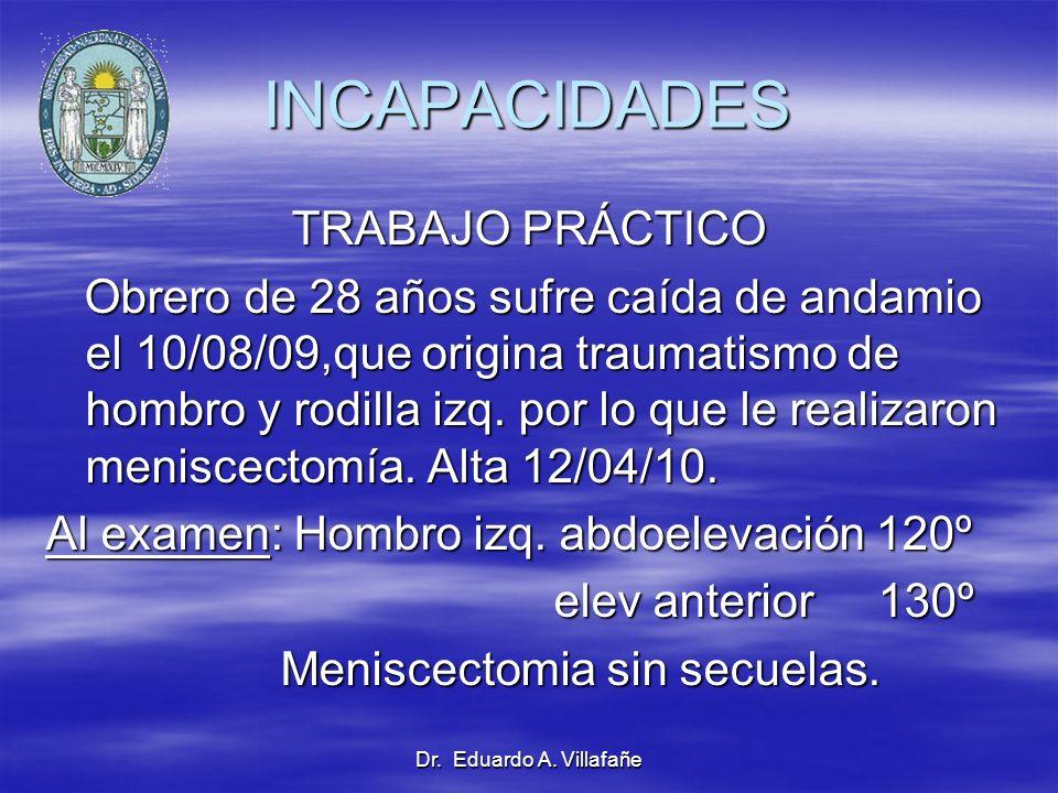 INCAPACIDADES TRABAJO PRÁCTICO