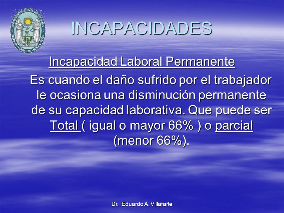 Incapacidad Laboral Permanente