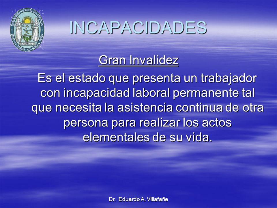 INCAPACIDADES Gran Invalidez