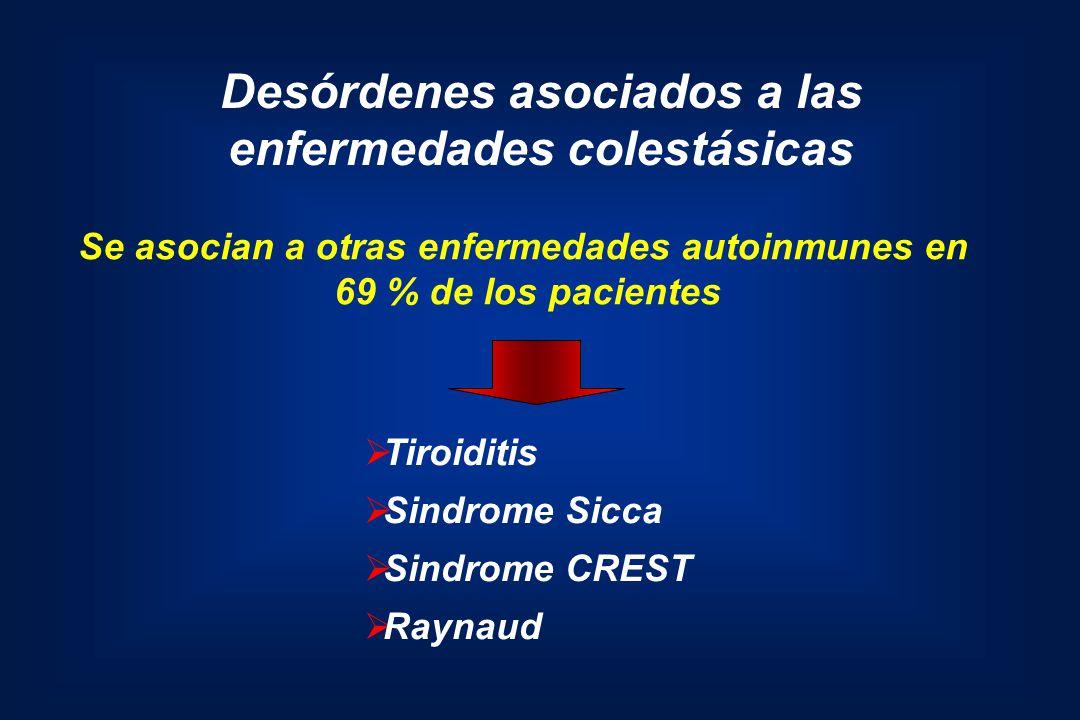 Desórdenes asociados a las enfermedades colestásicas
