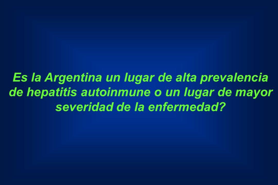 Es la Argentina un lugar de alta prevalencia