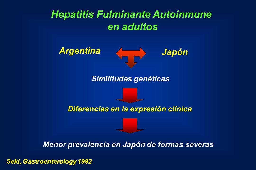 Hepatitis Fulminante Autoinmune Seki, Gastroenterology 1992