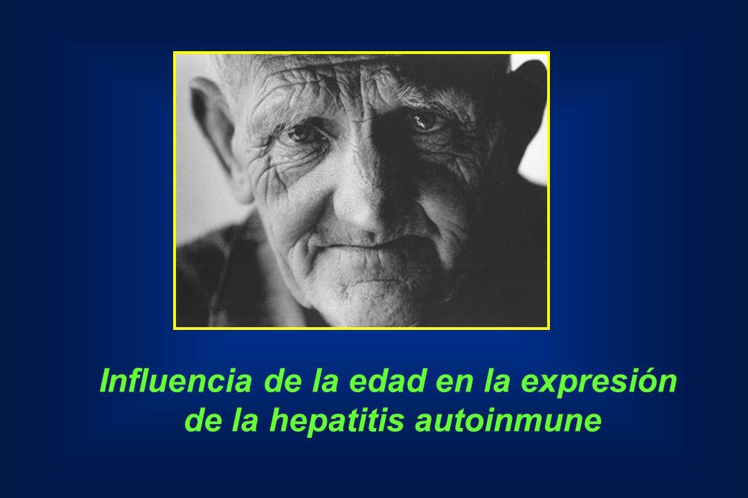Influencia de la edad en la expresión de la hepatitis autoinmune