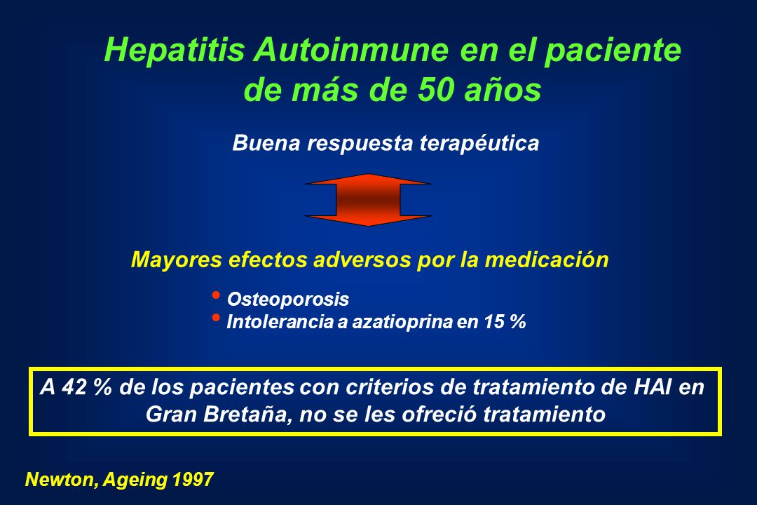 Hepatitis Autoinmune en el paciente de más de 50 años
