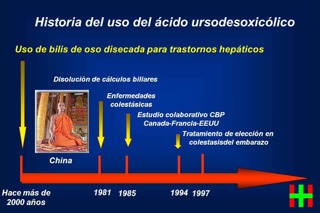 Historia del uso del ácido ursodesoxicólico