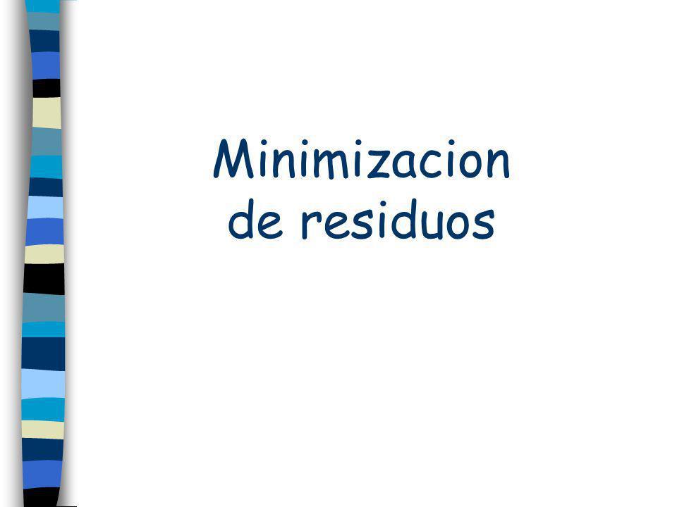 Minimizacion de residuos