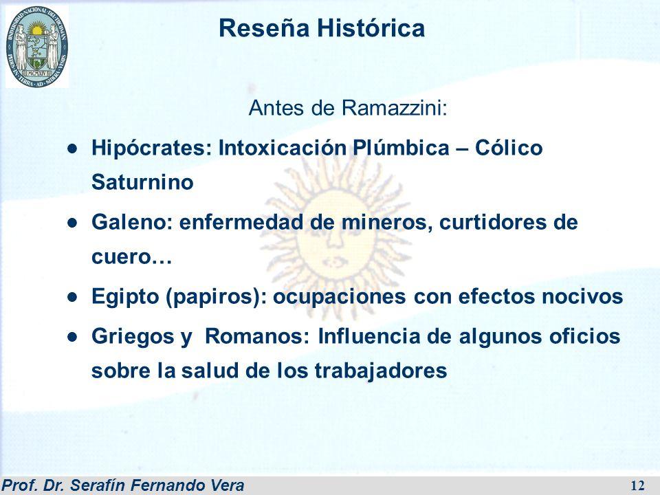 Reseña Histórica Antes de Ramazzini: