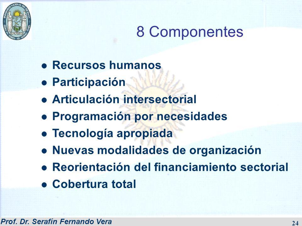 8 Componentes Recursos humanos Participación