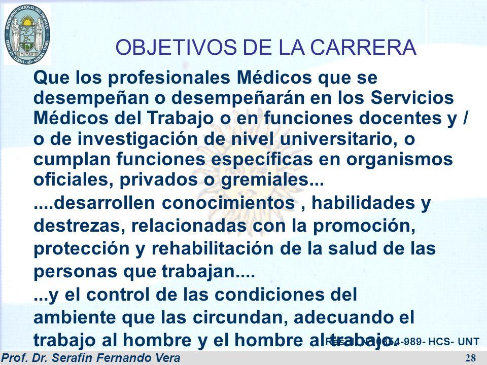 OBJETIVOS DE LA CARRERA