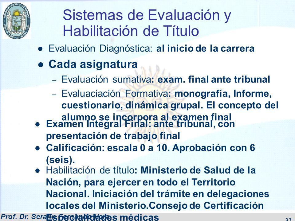 Sistemas de Evaluación y Habilitación de Título
