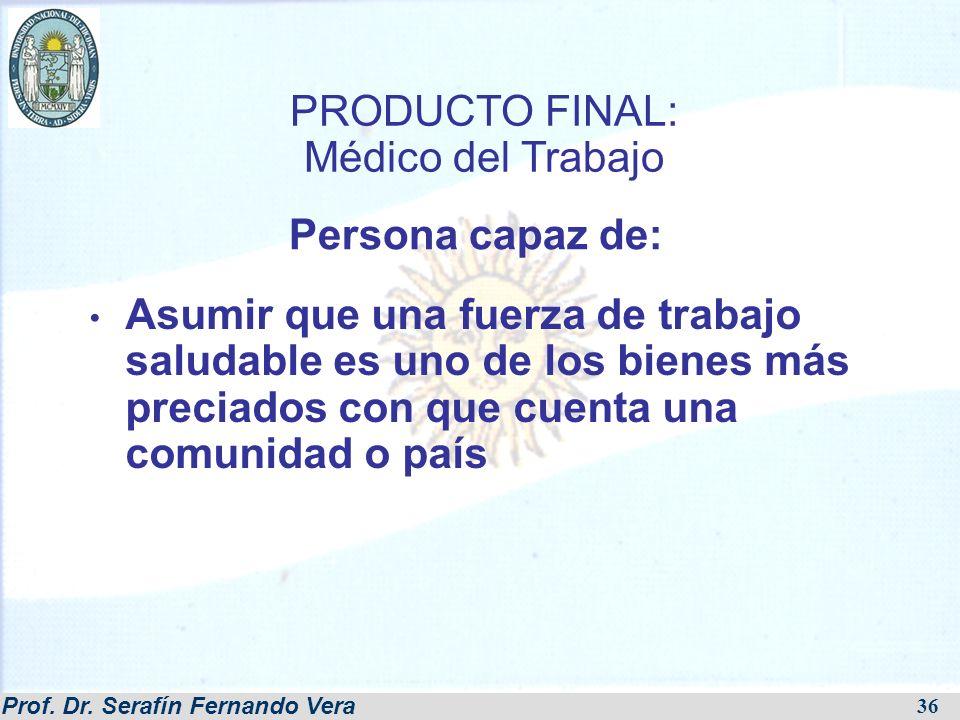 PRODUCTO FINAL: Médico del Trabajo