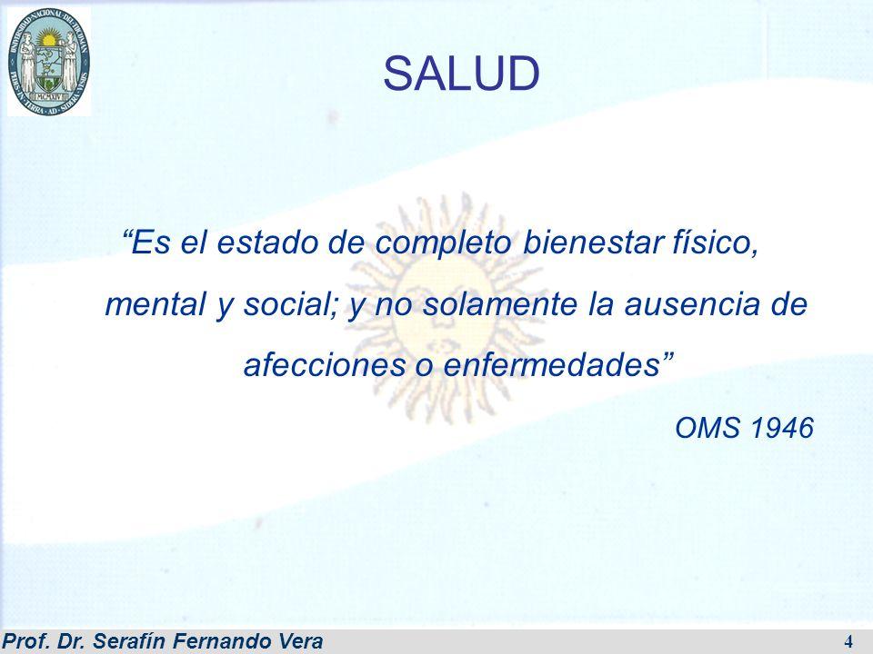 SALUD Es el estado de completo bienestar físico, mental y social; y no solamente la ausencia de afecciones o enfermedades