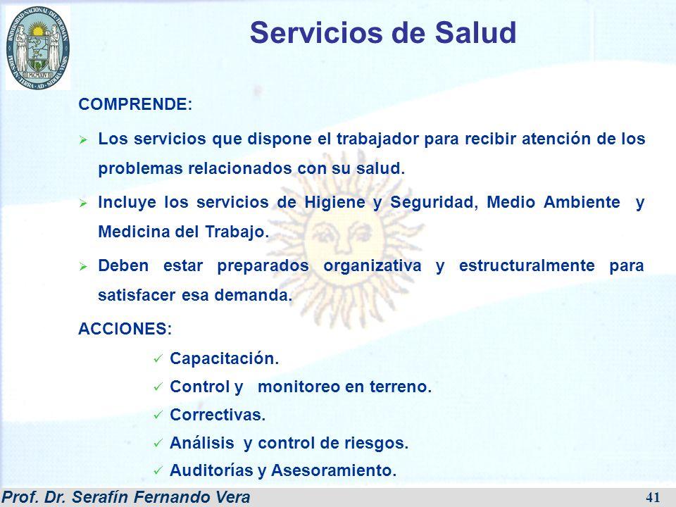 Servicios de Salud COMPRENDE: