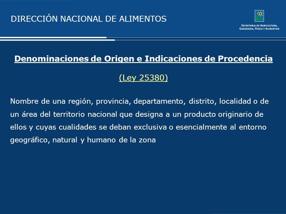 Denominaciones de Origen e Indicaciones de Procedencia