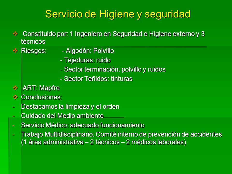 Servicio de Higiene y seguridad