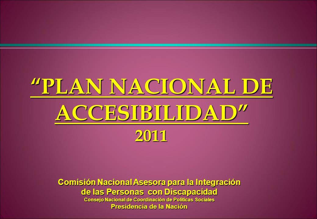 PLAN NACIONAL DE ACCESIBILIDAD