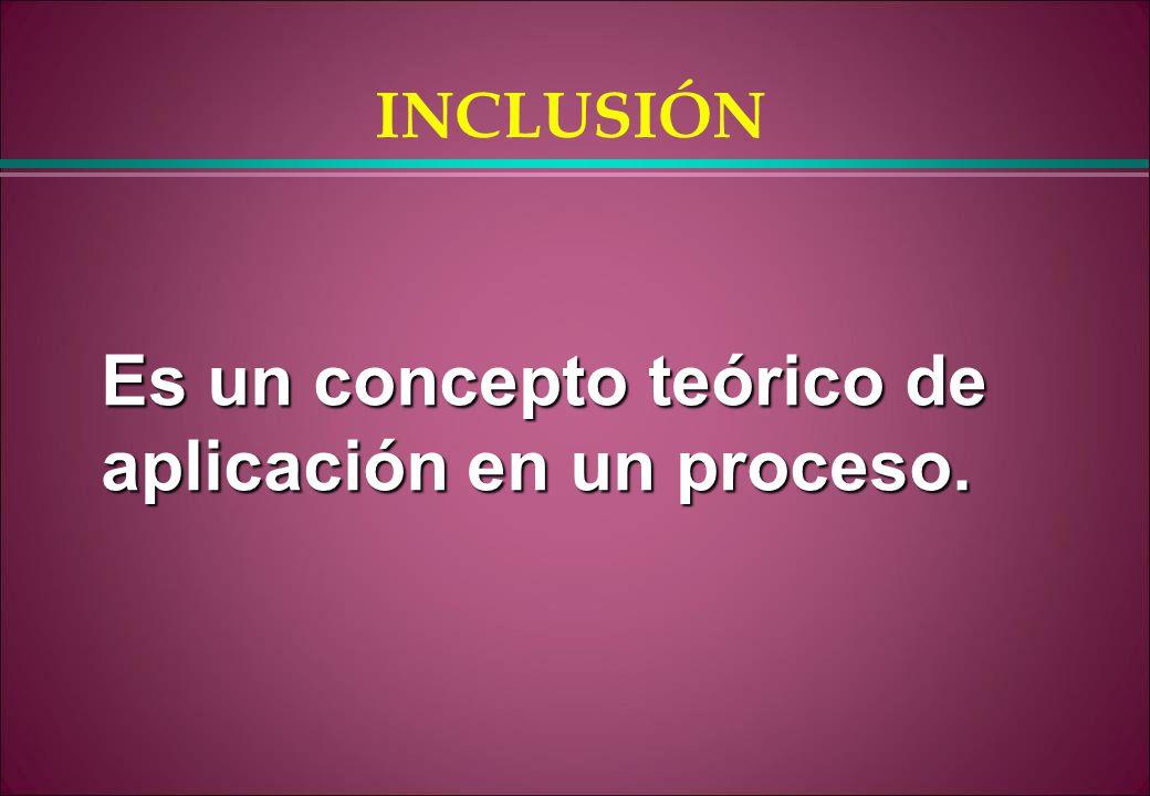 Es un concepto teórico de aplicación en un proceso.