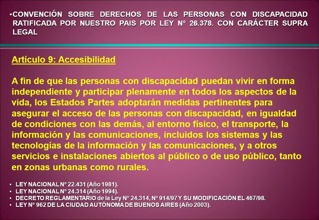 Artículo 9: Accesibilidad