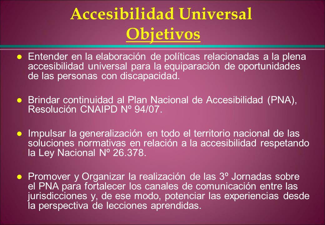 Accesibilidad Universal Objetivos
