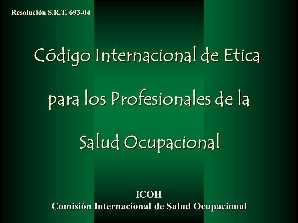 Código Internacional de Etica para los Profesionales de la