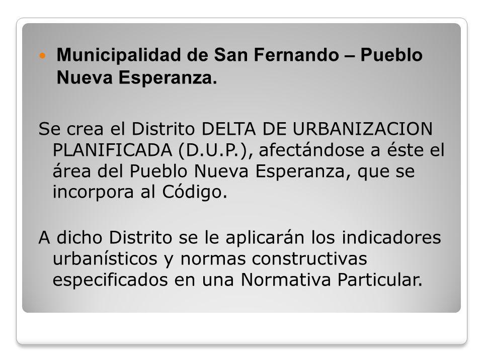 Municipalidad de San Fernando – Pueblo Nueva Esperanza.