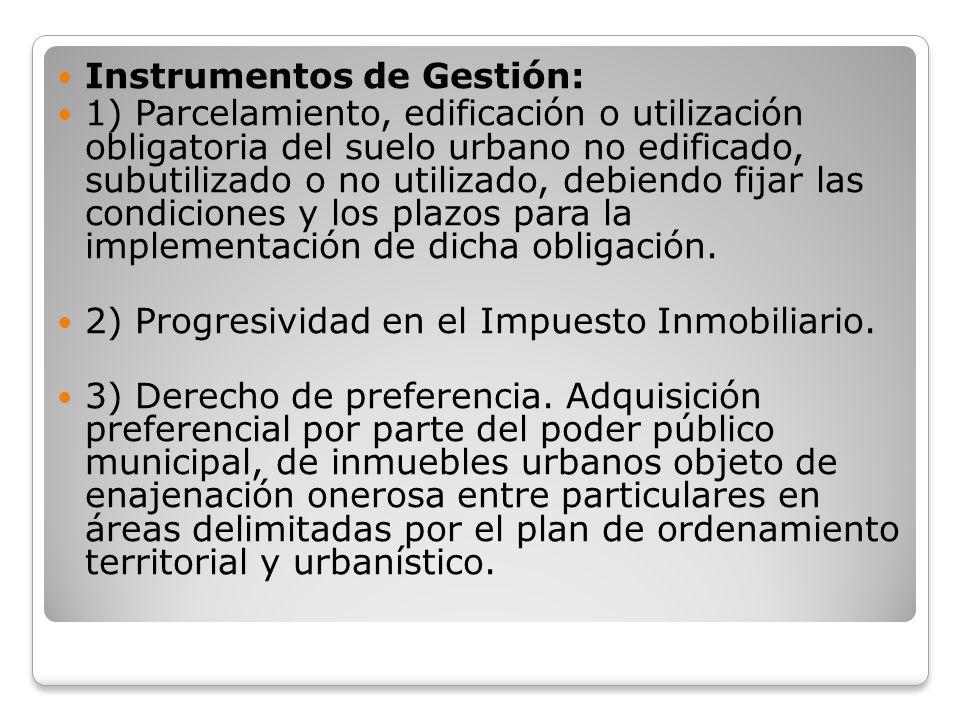 Instrumentos de Gestión: