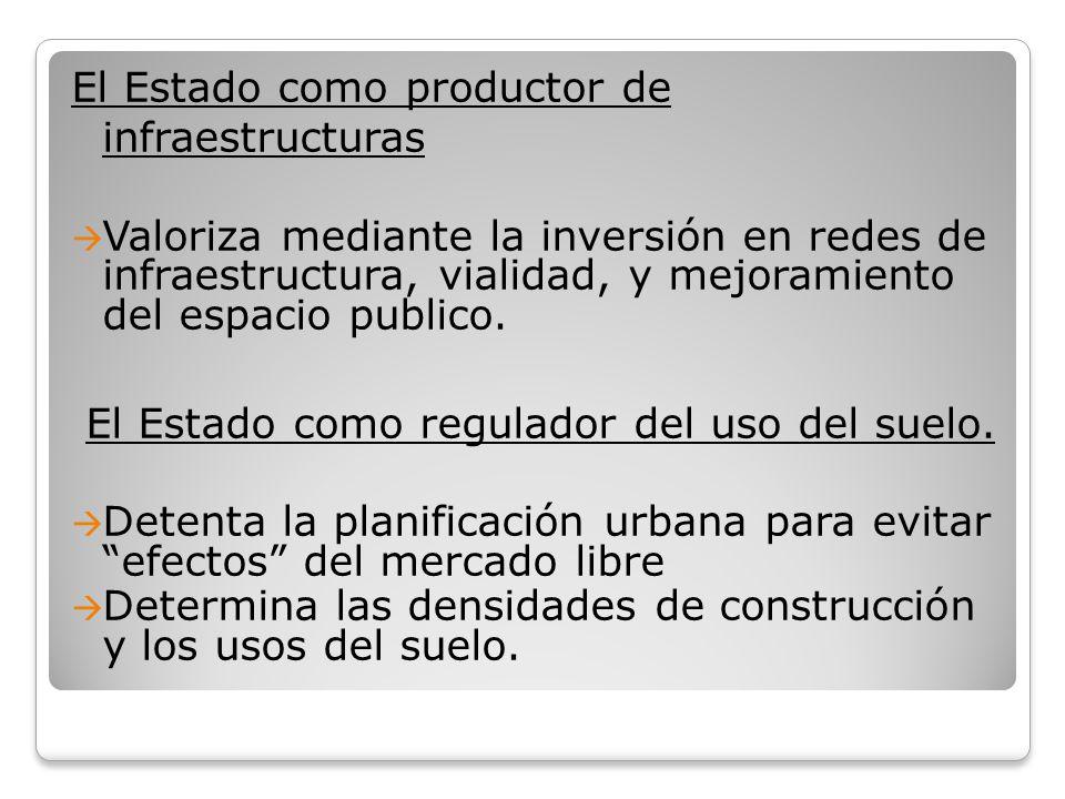 El Estado como productor de infraestructuras