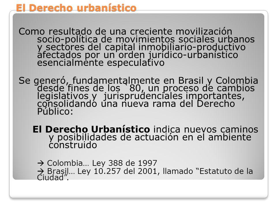 El Derecho urbanístico