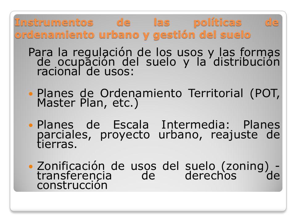 Planes de Ordenamiento Territorial (POT, Master Plan, etc.)