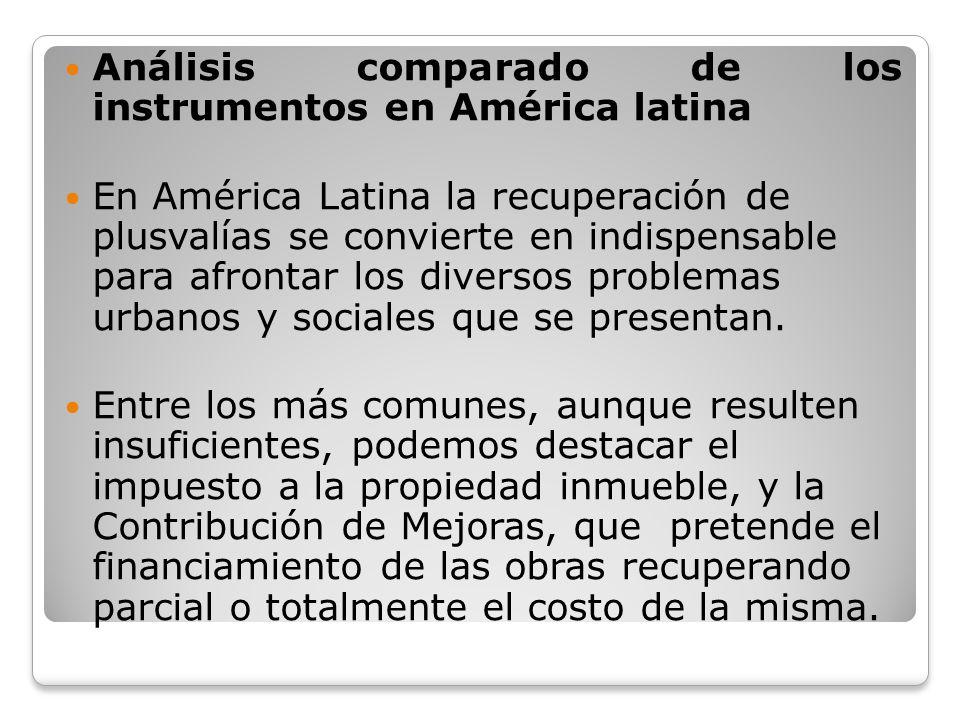 Análisis comparado de los instrumentos en América latina
