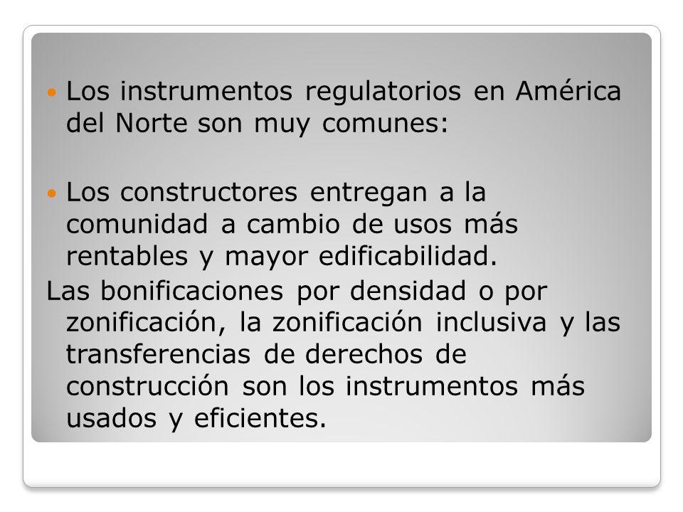Los instrumentos regulatorios en América del Norte son muy comunes: