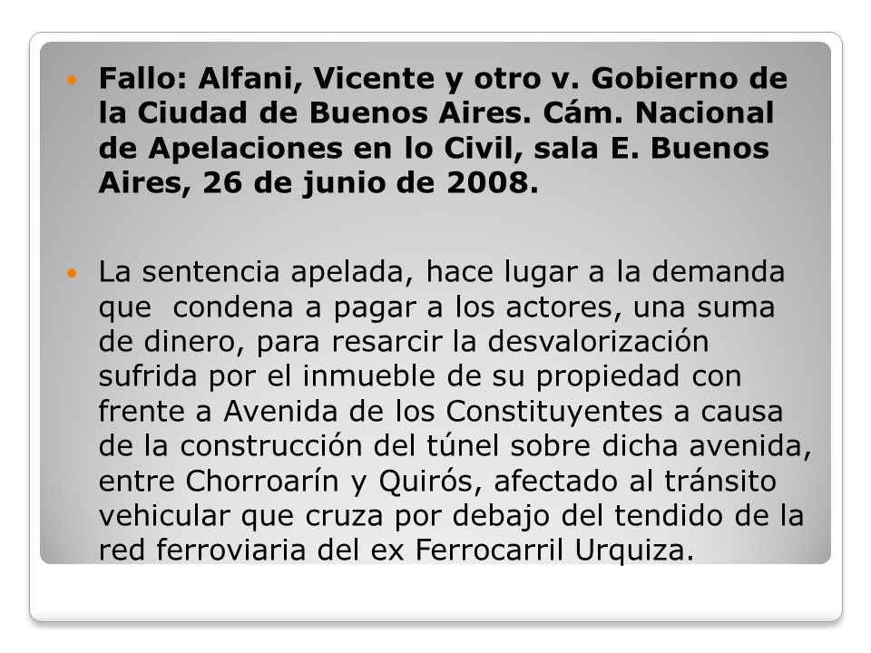 Fallo: Alfani, Vicente y otro v. Gobierno de la Ciudad de Buenos Aires