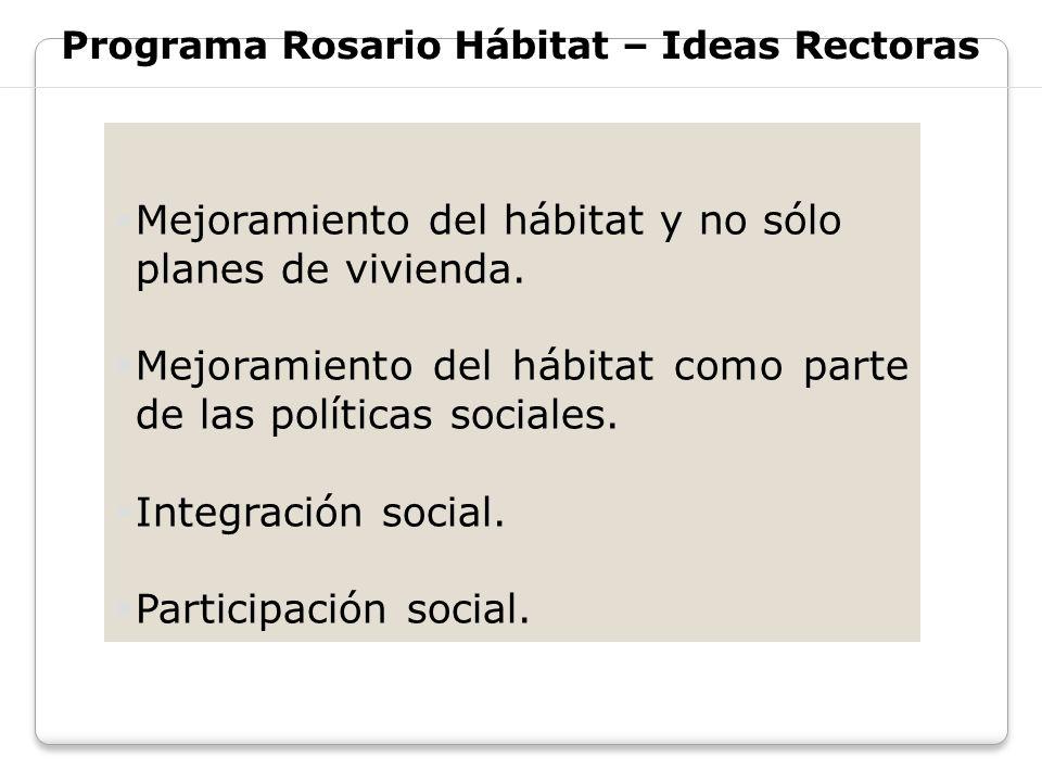 Programa Rosario Hábitat – Ideas Rectoras