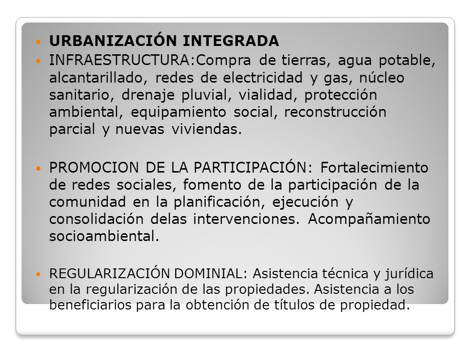 URBANIZACIÓN INTEGRADA